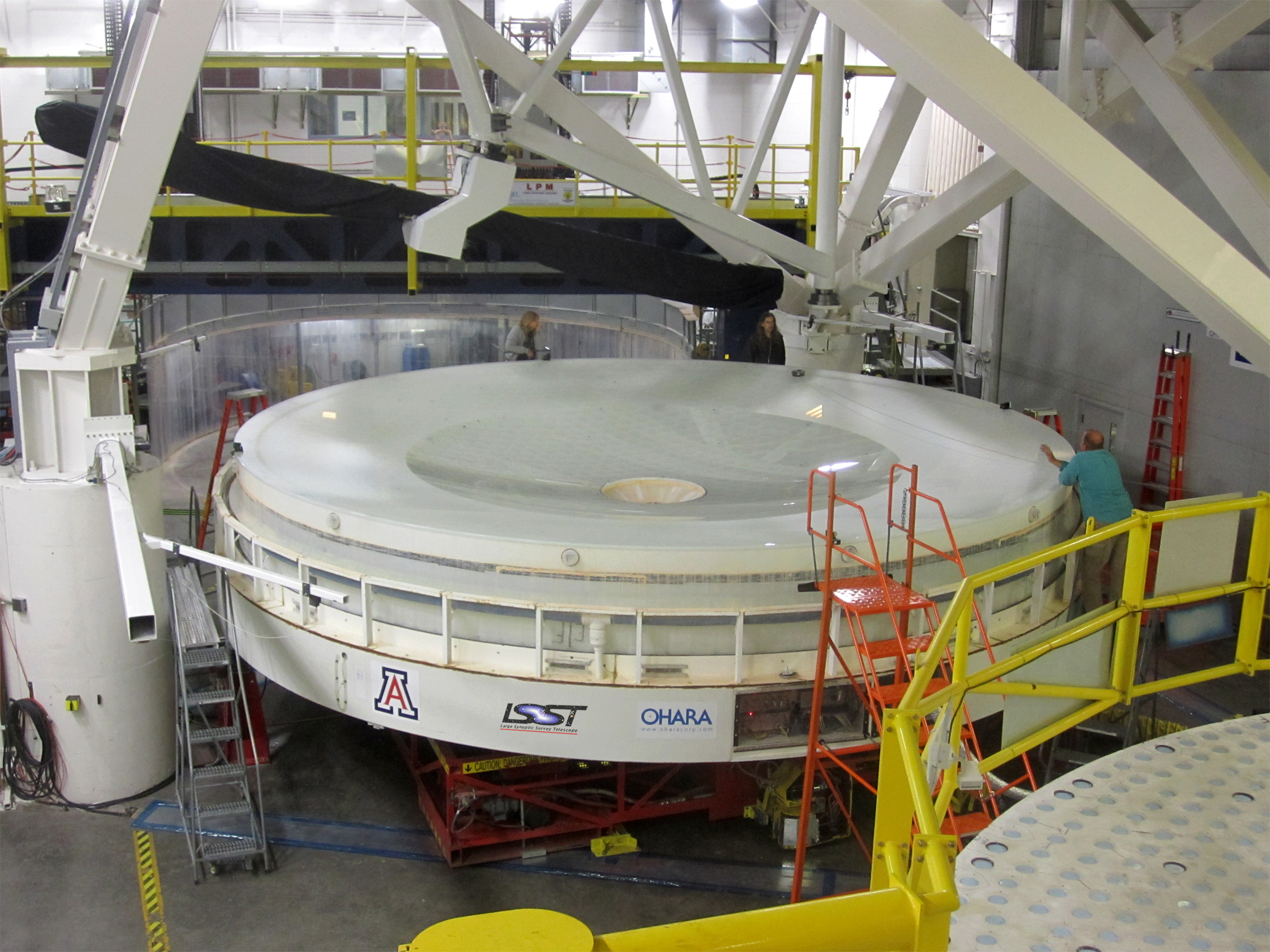 The LSST's primary and tertiary mirrors are created from a single giant piece of glass.