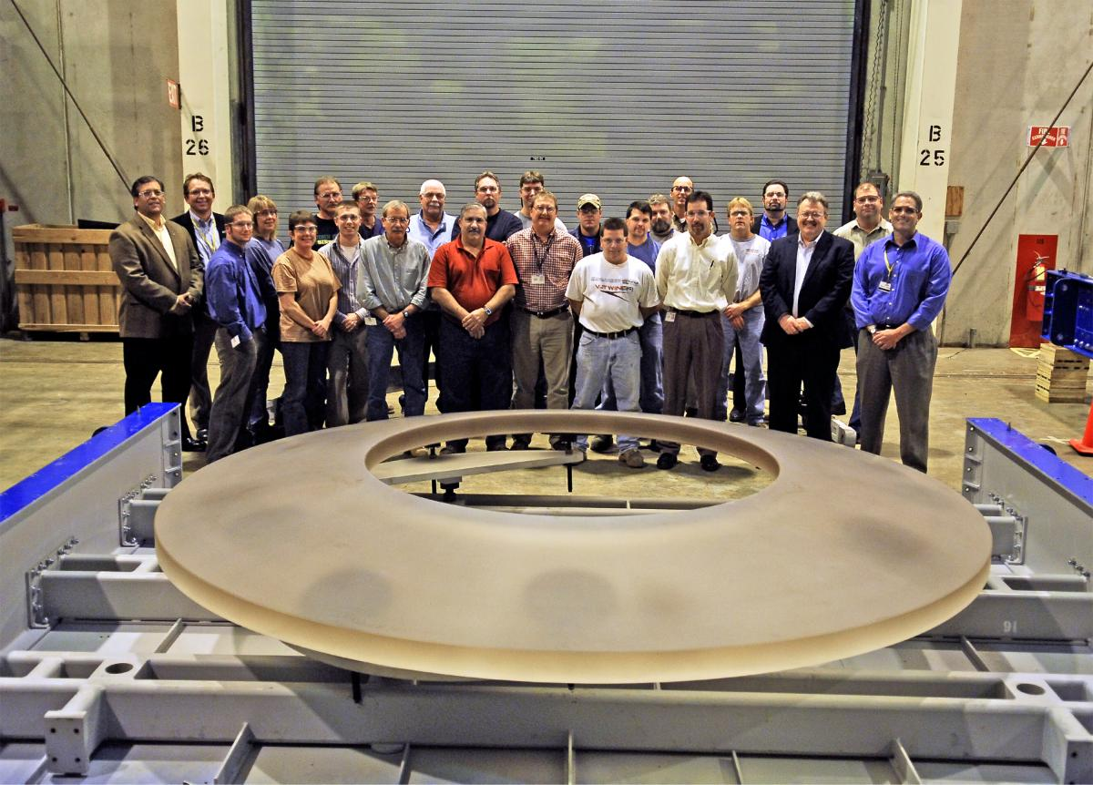 The blank for LSST's secondary mirror is 3.5 meters in diameter.