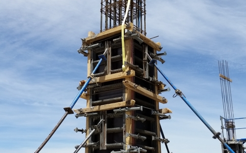 LSST structure is taking shape on Cerro Pachon: extraordinary photograph where the H30 concrete begins to cover the reinforcement steel in the main columns.