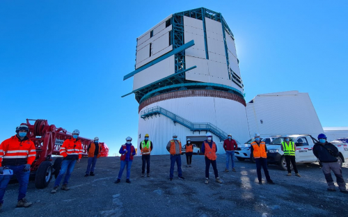 A small group of Rubin Observatory staff has returned to the summit to restart limited construction activities.