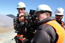 The RED camera requires multiple people to operate it