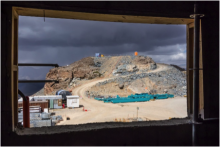 Looking toward Calibration Hill from the LSST Facility Building, November 2016